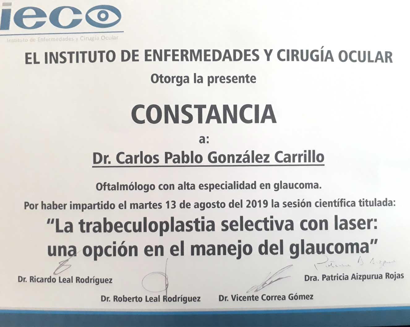 Constancia IECO